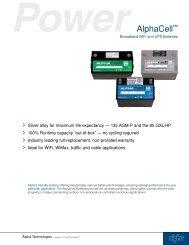 ALPHA AlphaCell Broadband WiFi UPS Batteries - Temple, Inc.