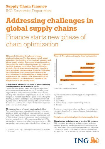 Addressing challenges in global supply chains