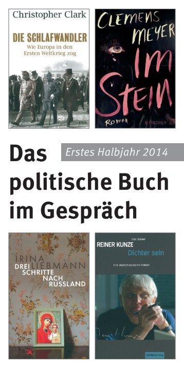 Das politische Buch im Gespräch - Landeszentrale für politische ...