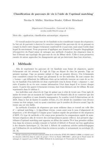 1 Méthode - Statistique pour sciences sociales