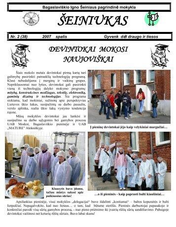 2007-10,Nr.38 - Bagaslaviškio Igno Šeiniaus pagrindinė mokykla
