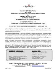 Manual for hand portable Class D copper - Amerex Corporation