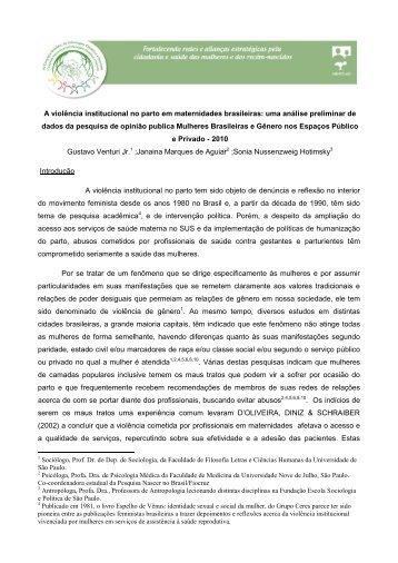 A violência institucional no parto em maternidades brasileiras: uma ...
