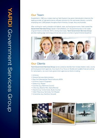 Y ARDI Government Services Group - Yardi Systems