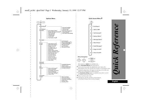 Quick Reference - Telekomunikacije