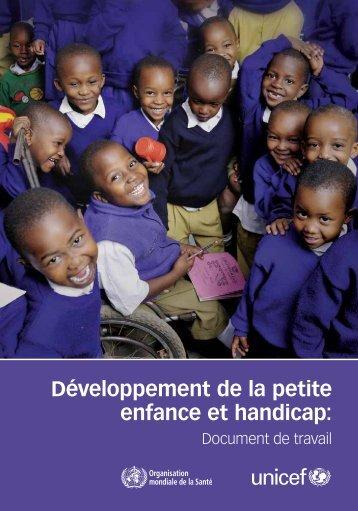 Développement de la petite enfance et handicap: