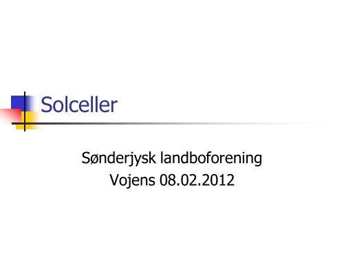 Solceller - Sønderjysk Landboforening