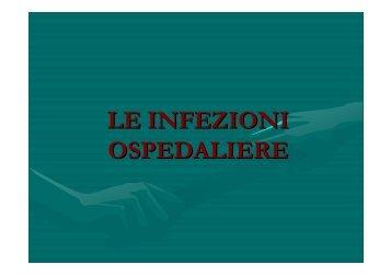 LE INFEZIONI OSPEDALIERE - Medicina e Chirurgia