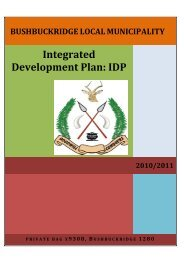 Integrated Development Plan: IDP - Co-operative Governance and ...