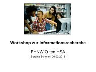 Workshop Digitale Medien 2013 HSA - Fachhochschule ...