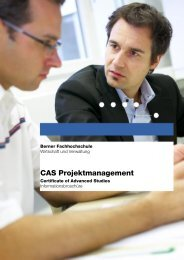 Berner Fachhochschule - Projektmanagement.ch