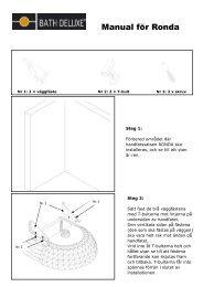 Manual för Ronda - Bath Deluxe