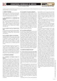 CONDITIONS GENERALES DE SERVICE - LaFibre.info