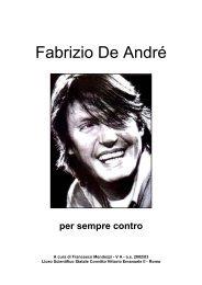 Fabrizio De André: per sempre contro