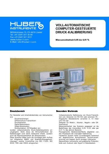 voll-automatische computer-gesteuerte druck-kalibrierung - Huber ...