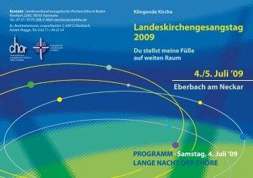 Landeskirchengesangstag 2009 4./5. Juli '09
