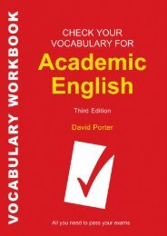 check your english vocabulary for academic english
