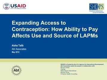 LAPM use - (SHOPS) project