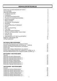 INDHOLDSFORTEGNELSE - Dansk Svømmeunion