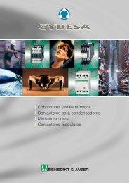 Catálogo contactores y relés - Cydesa