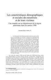 Les caractéristiques démographiques et sociales des ... - Cesdip