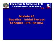 Module #2 Baseline / Initial Project Schedule (IPS) Review - SAME ...