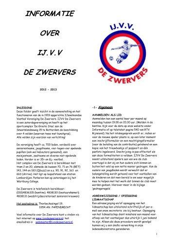 Informatiefolder - IJ.VV De Zwervers