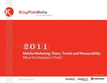 Mobile Marketing: Plans, Trends and ... - King Fish Media