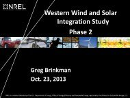 Western Wind and Solar Integration Study Phase 2