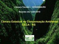 Câmara Estadual de Compensação Ambiental CECA - RS