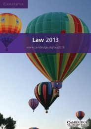 Law 2013 - Cambridge University Press India