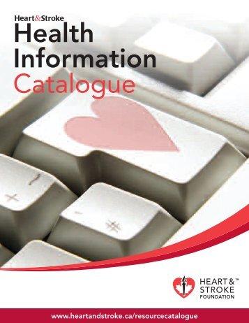 Health Information Catalogue - Heart and Stroke Foundation of Ontario