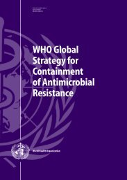 WHO Global Strategy for Containment of ... - libdoc.who.int