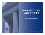 Comptroller's Debt Set-Off Program - Virginia Department of Accounts