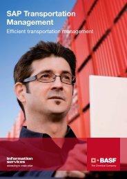SAP Transportation Management - Efficient ... - BASF IT Services
