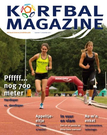 Pfffff... nog 700 meter - Korfbal Magazine