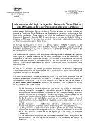 informe - Colegio de Ingenieros Técnicos de Obras Públicas