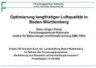 Forschungszentrum Karlsruhe - IMK-TRO