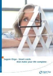 Sagem Orga - Smart cards that make your life complete