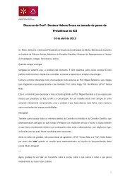 Discurso da Profª. Doutora Helena Sousa (.pdf) - Universidade do ...