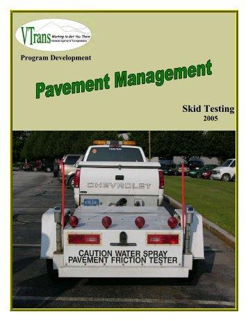 2005 Skid Test Report - Vermont AOT Program Development