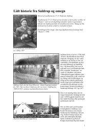 Lidt historie fra Suldrup og omegn - Støvring kommunes Lokalarkiv