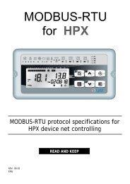 MODBUS-RTU for HPX - Vortvent