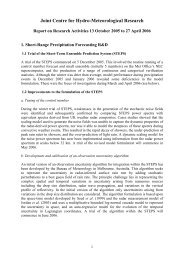 Report - Joint Centre for Hydro-Meteorological Research