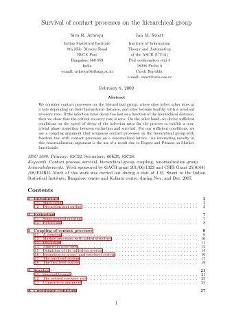 Survival of contact processes on the hierarchical group