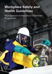 Workplace Safety and Health Guidelines Management of Hazardous