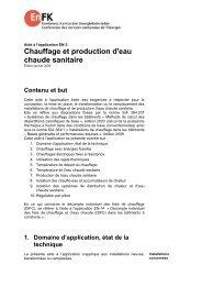 Chauffage et production d'eau chaude sanitaire