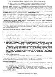 RICHIESTA RILASCIO PASSAPORTO - Ambasciata d'Italia a ...