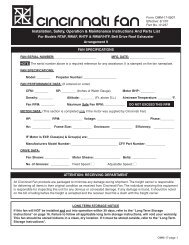 Installation, Safety, Operation & Maintenance ... - Cincinnati Fan