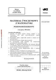 materiał ćwiczeniowy z matematyki poziom rozszerzony - Zadania.info